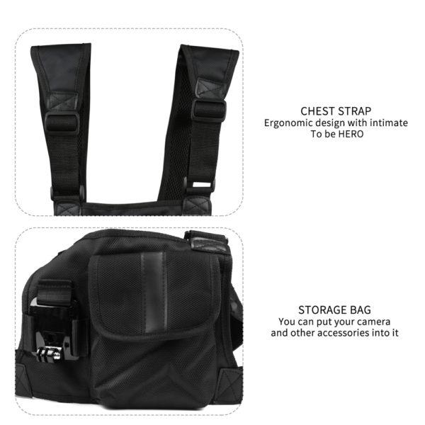стойка за гърди тип чанта за GoPro 3