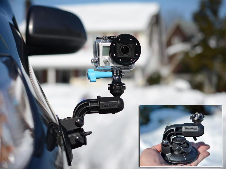 car-mount-Suction-Cup-gopro-екшън-камера-спортна-видеокамера