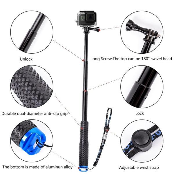 селфи стик за gopro и смартфон 5