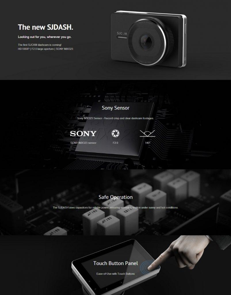 Видеорегистратор SJCAM M30 HD 1080P Dash Cam 15