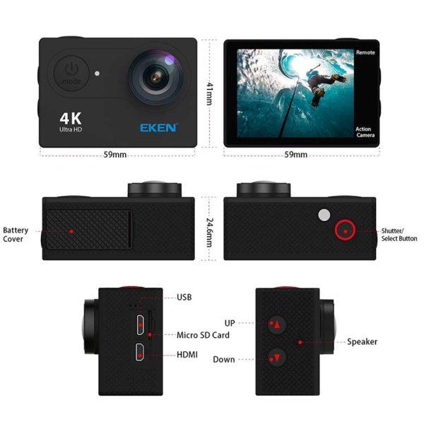Екшън-камера-EKEN-H9R-6