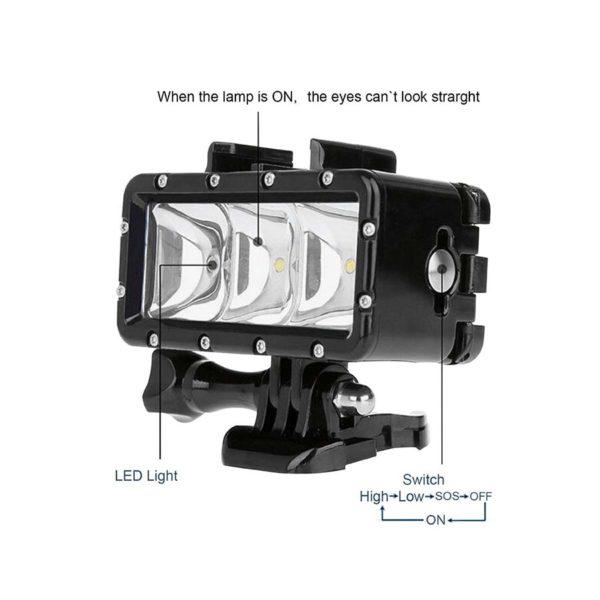 осветление за подводно снимане за gopro 1