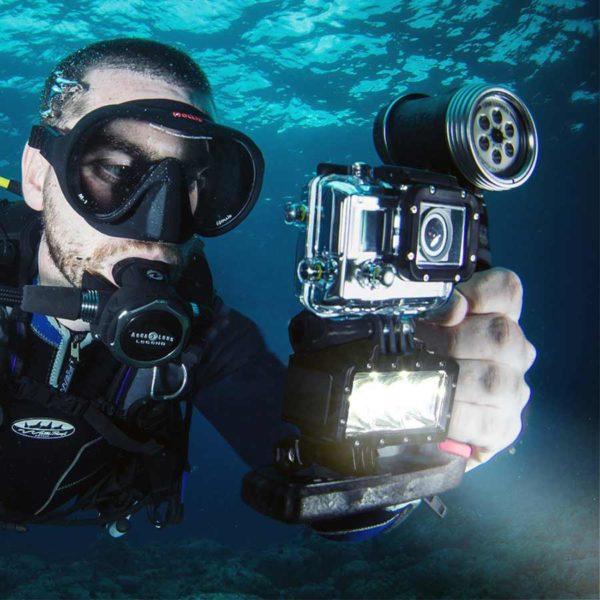 осветление за подводно снимане за gopro 4