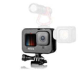 Рамка за GoPro Hero 9 Black, Алуминий, Черен