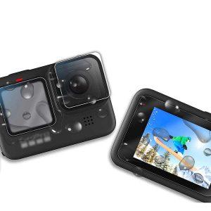 Стъклен протектор GARV за GoPro Hero 9 Black, За двата екрана и обектива